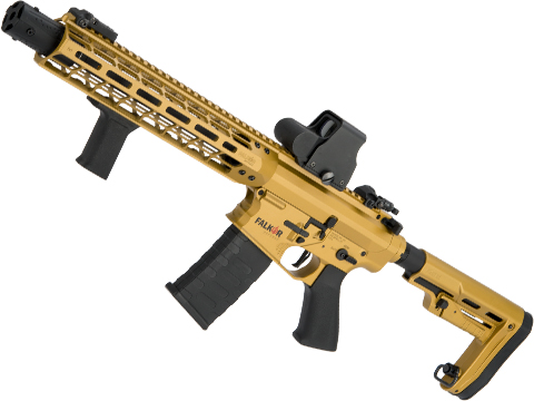 EMG Falkor AR-15 Blitz SBR 2.0 eSilverEdge Training Weapon M4 Airsoft AEG Rifle (Color: Gold / 350 FPS)