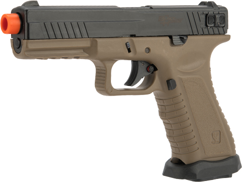 APS XTP  Black Hornet Full Auto Co2 Powered Airsoft Pistol with Polymer Slide (Version: Japan Version / Tan)
