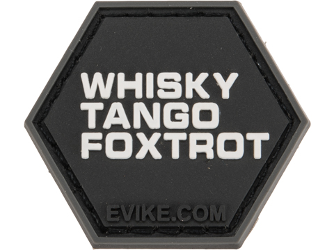 Operator Profile PVC Hex Patch Catchphrase Series 1 (Style: Whiskey Tango Foxtrot)