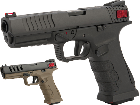 APS Shark Full Automatic Select-Fire CO2 Gas Blowback .177 / 4.5mm Air Pistol (Color: Black)
