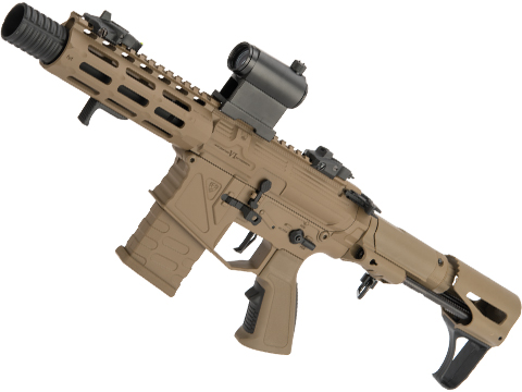 APS Phantom Extremis Mark VI 2.0 eSilverEdge PDW Style Airsoft AEG (Color: Desert)