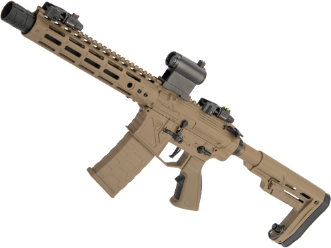 APS Phantom Extremis Mark V 2.0 eSilverEdge M4 Airsoft AEG with 10 M-LOK Handguard (Color: Desert)
