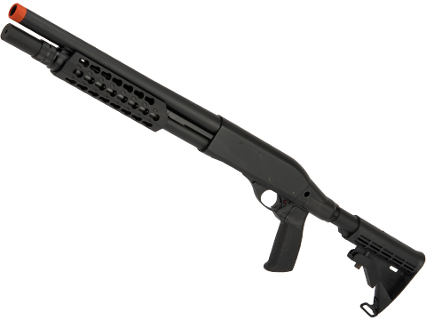 APS CAM870 Shell Ejecting Tactical Pump Action Gas Airsoft MKII Shotgun (Model: M870 Tactical Keymod Handguard)