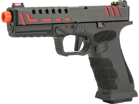 APS XTP Scorpion Co2 Gas Blowback Airsoft Pistol (Color: Black / Red)