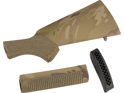 APS Police Style Forend Kit with Stippling for APS CAM870 Series Airsoft Shotguns (Color: Multicam)