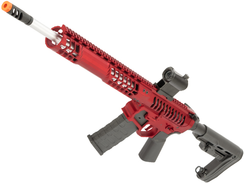EMG F-1 Firearms BDR-15 3G AR15 2.0 eSilverEdge Full Metal Airsoft AEG Training Rifle (Model: Red / RS2 Stock 350 FPS)
