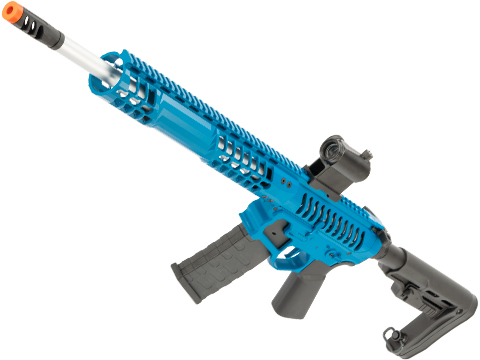 EMG F-1 Firearms BDR-15 3G AR15 2.0 eSilverEdge Full Metal Airsoft AEG Training Rifle (Model: Blue / RS2 Stock / 400 FPS)