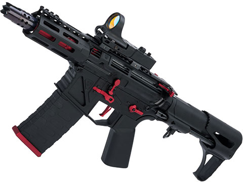 APS Phantom Extremis Mark VII 2.0 eSilverEdge CQB Airsoft AEG (Color: Black / Red)