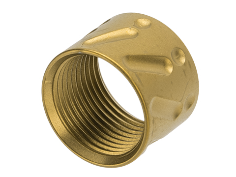 APS CNC Machined Aluminum 14mm Negative Thread Protector (Color: Gold / V-Type)