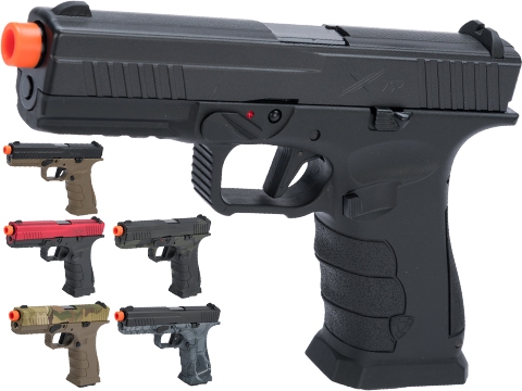 APS XTP Gas Blowback Airsoft Pistol (Color: Candy Apple Red / CO2)