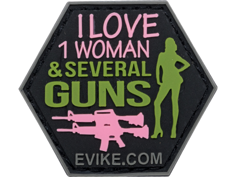 Operator Profile PVC Hex Patch Catchphrase Series (Style: Love Women / Guns)