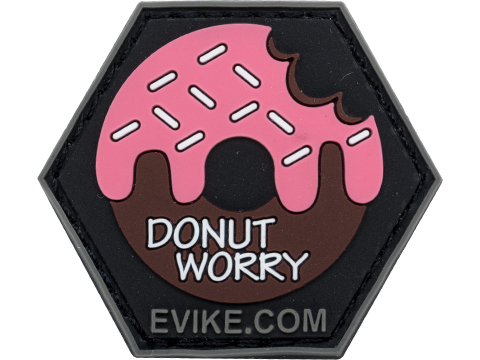 Operator Profile PVC Hex Patch Catchphrase Series (Style: Donut Worry)