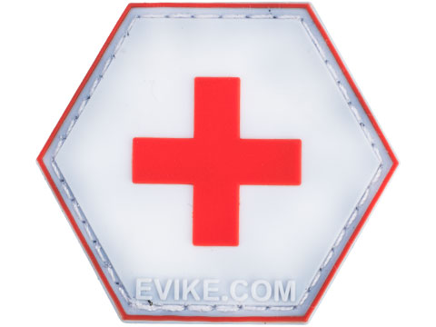 Operator Profile PVC Hex Patch - Red Cross