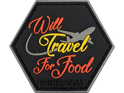 Operator Profile PVC Hex Patch Catchphrase Series (Style: Travel for Food)