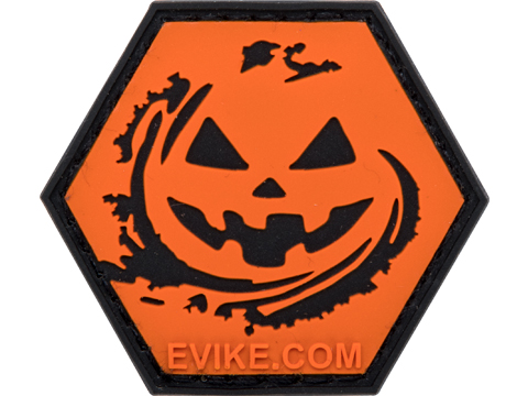 Operator Profile PVC Hex Patch - Jack-o-Lantern