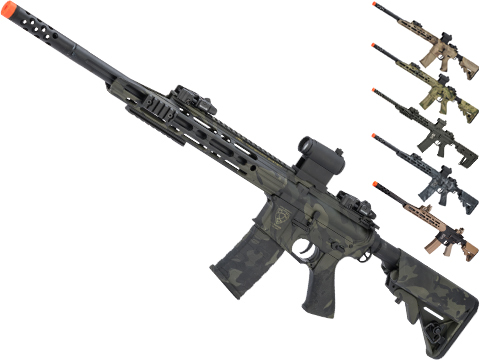 APS Guardian Match M4 Airsoft Electric Blowback AEG Sniper Rifle (Color: Multicam Black)