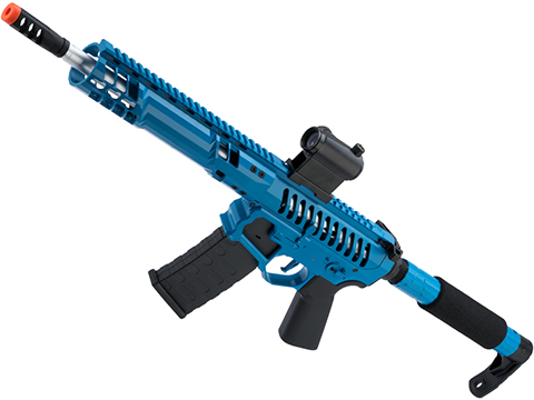 EMG F-1 Firearms SBR Airsoft AEG Training Rifle w/ eSE Electronic Trigger (Model: Blue / Tron / 350 FPS)