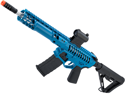 EMG F-1 Firearms SBR Airsoft AEG Training Rifle w/ eSE Electronic Trigger (Model: Blue / RS-3 350 FPS)