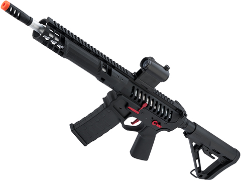 EMG F-1 Firearms SBR Airsoft AEG Training Rifle w/ eSE Electronic Trigger (Model: Black / Red / RS-3 / 350 FPS)