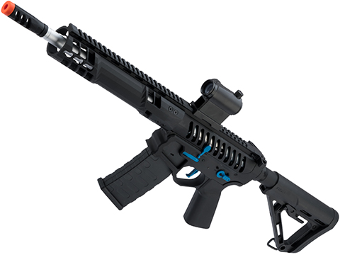 EMG F-1 Firearms SBR Airsoft AEG Training Rifle w/ eSE Electronic Trigger (Model: Black / Blue / RS-3 / 350 FPS)