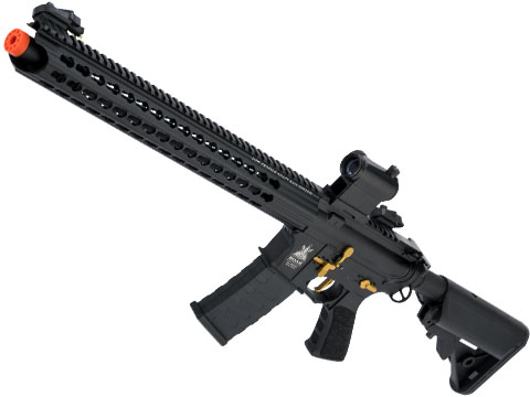 APS ASR-118 Boar Tactical 2.0 eSilverEdge Custom 17 KeyMod Airsoft AEG (Color: Black)