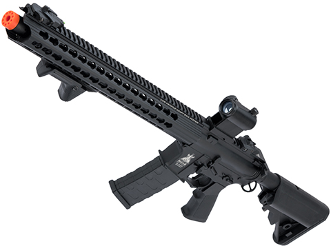 APS ASR-117 Boar Tactical 2.0 eSilverEdge 17 KeyMod Airsoft AEG (Color: Black / Crane Stock)