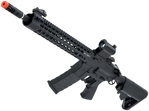 APS ASR115 Full Metal 12.5 2.0 eSilverEdge M4 AR15 Airsoft AEG Rifle (Color: Black)