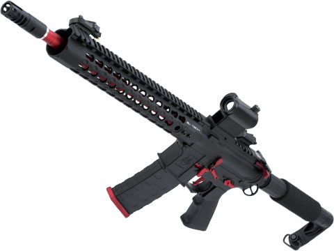 APS ASR115X Three Gun Custom 2.0 eSilverEdge AEG Rifle (Color: Red & Black)