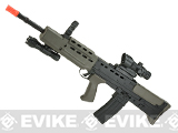 Matrix Full Size Bullpup L85 A2 British Dragon Carbine Airsoft Rifle with Reflex Sight and Flashlight