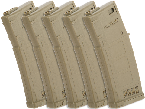 ARES AMAG 130rd Magazine M4 / M16 Mid Cap Magazine for AEG Rifles (Color: Dark Earth / 5 Pack)