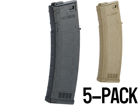 ARES AMAG 170rd Magazine M4 / M16 Mid Cap Magazine for AEG Rifles (Color: Black / 5 Pack)