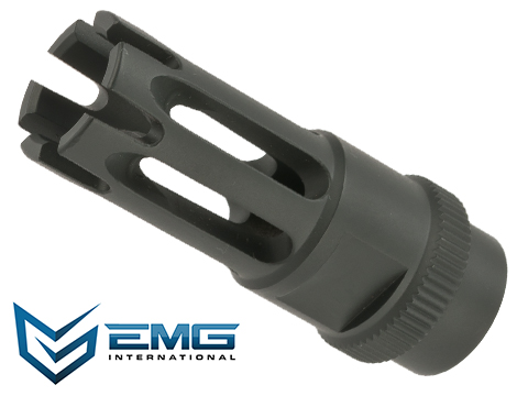 EMG 14mm Positive Metal Flash Hider for M4 Airsoft AEGs - Version 3