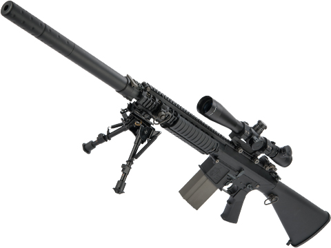 ARES Full Metal SR25-M110 Airsoft AEG DMR (Color: Black)