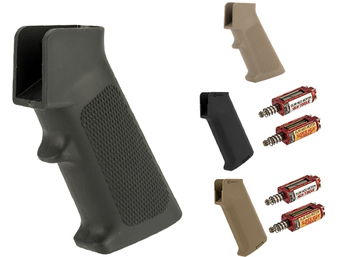 ARES Realistic Series Slim Motor Grip for M4/M16 Series Airsoft AEGs (Package: AMOEBA M4 / Black / Grip Only)