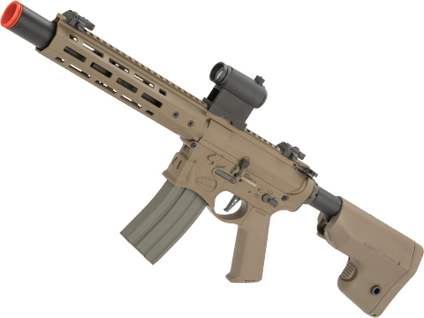 EMG / Sharps Bros Warthog Licensed Advanced M4 Airsoft AEG Rifle with Super High Torque Slim Motor Grip (Color: Tan / 10 SBR)