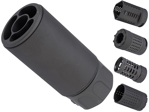 ARES QD Blast Shield Flash Hider for Airsoft AEGs (Model: Type A)