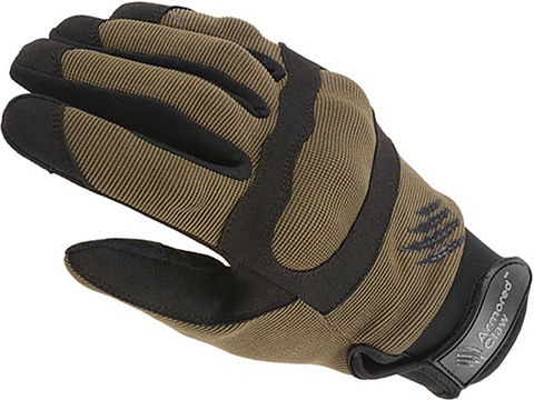 Armored Claw Shield Flex Tactical Glove (Color: Olive / Small)