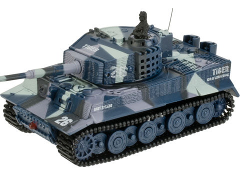 Armor Corps 1:72 Scale Remote Control RC Battle Tiger Tank (Color: Blue Camo)