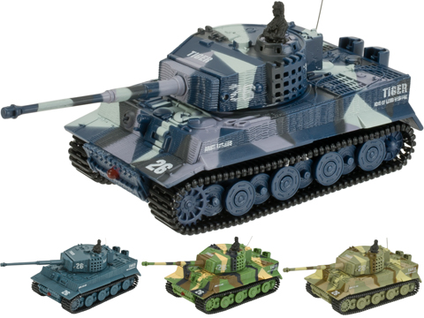 Armor Corps 1:72 Scale Remote Control RC Battle Tiger Tank (Color: Panzer Grey)