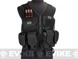 GxG High Speed Airsoft Vest w/ Integrated Pouches - Black