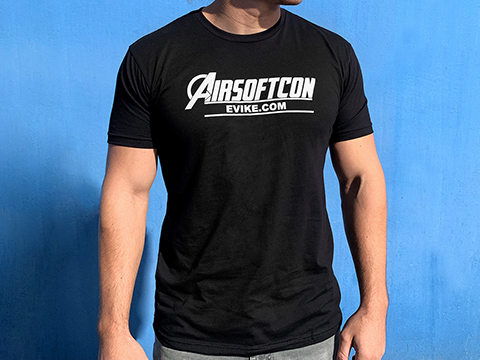 Evike.com AirsoftCON 2019 Graphic Tee (Size: Black / Large)