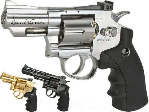 ASG Dan Wesson CO2 Powered 4.5mm Airgun Revolver (Color: Silver / 2.5 Snub Nose / BB Gun)