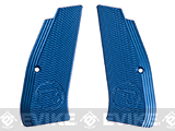 ASG Aluminum Alloy Licensed CZ Grip Panels for CZ SP-01 Shadow Airsoft Pistols - Blue
