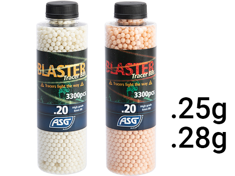 ASG Blaster 6mm Airsoft Tracer BBs  (Color: Green / 0.25g  / 3300 Rounds)