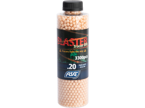 ASG Blaster 6mm Airsoft Tracer BBs (Color: Red / 0.20g  / 3300 Rounds)