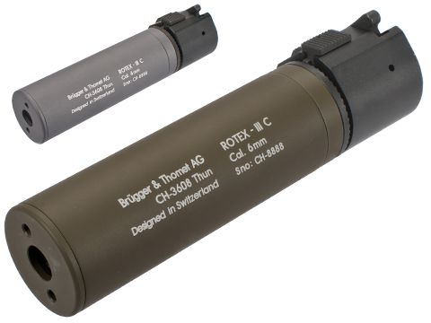 B&T Rotex-IIIA Compact Mock Silencer for M4 Series Airsoft Rifles