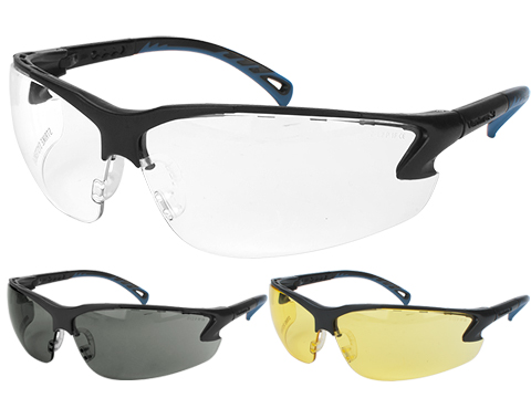 ASG Strike Systems Protective Airsoft Shooting Glasses (Color: Clear Lenses)