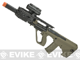 (July 4th EPIC SALE!) ASG Steyr Licensed AUG A3 MP Full Metal Gearbox Airsoft AEG Rifle - Tan (Evike.com Exclusive Color)
