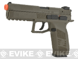 ASG CZ P-09 Sportsline Licensed Airsoft GBB Gas Blowback Pistol (Color: Dark Earth)