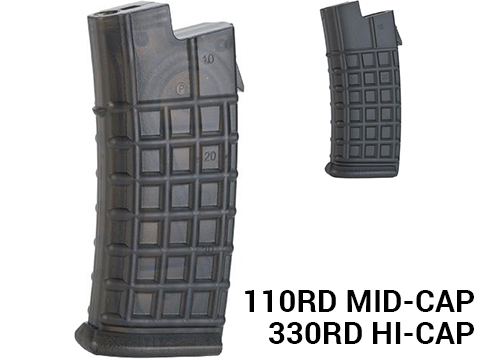 ASG Polymer AUG Series Magazine forAirsoft AEG Rifles (Type: 110rd Mid-Cap)